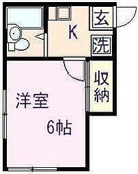 松の木ハウス[0203号室]の間取り