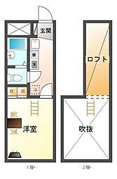 レオパレスMEIHO[1階]の間取り
