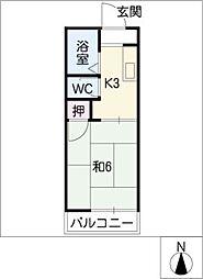 タウニータルサカA棟[2階]の間取り