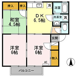 セジュールかわぢ A棟[2階]の間取り