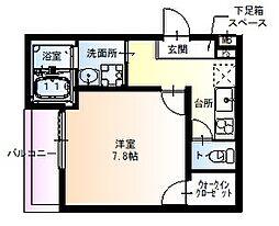 フジパレス京阪北本通 3階1Kの間取り