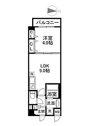 パーフェクトライフ京橋駅前[103号室]の間取り