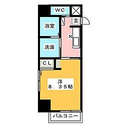 Field Village Hirosumi 1階1Kの間取り