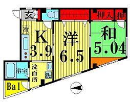 竹ノ塚サニーフラッツ[201号室]の間取り
