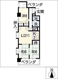 コーポモリタIII[2階]の間取り