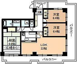 レジデンス伊藤II[5A号室]の間取り