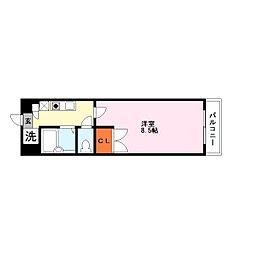 オール電化カーサソラッツオ弐番館[4階]の間取り