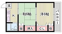 JR播但線 寺前駅 バス6分 福本下車 徒歩3分の賃貸アパート