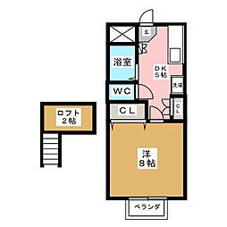 ハイツ中条[1階]の間取り