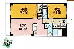 グレースコート鶴ヶ島[3階]の間取り