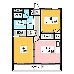 サンライトA[2階]の間取り