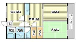 東今宿中村コーポ2[5階]の間取り