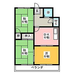 メゾン町田[2階]の間取り
