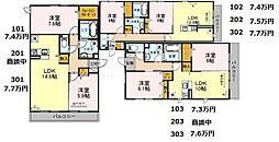 (仮称)D-room軽里[3階]の間取り