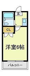 駒川エンビィハイツ[2階]の間取り