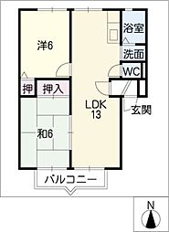 St.AKANAT・III[2階]の間取り