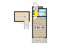 メゾンドゥshino[2階]の間取り