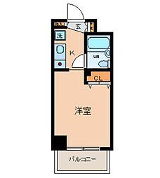 神奈川県横浜市南区宮元町1丁目の賃貸マンションの間取り