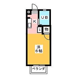 村瀬ハイツ1[2階]の間取り