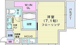 仙台市地下鉄東西線 大町西公園駅 徒歩7分の賃貸アパート 2階1Kの間取り
