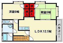福岡県大野城市筒井5丁目の賃貸アパートの間取り
