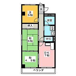 コーポプリンスI[3階]の間取り