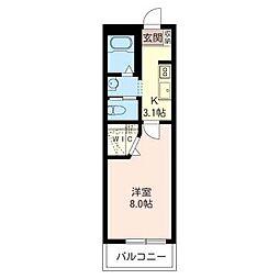 サンボナール[3階]の間取り