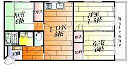 久富マンション[2階]の間取り
