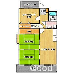 グランデージ 箱崎[6階]の間取り