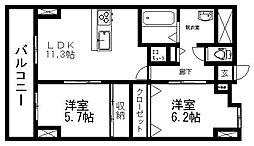 レ・モンデ新潟[403号室]の間取り