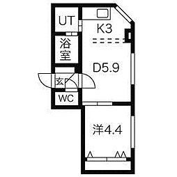 Flats LIDO[4階]の間取り