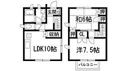 [テラスハウス] 兵庫県西宮市仁川町2丁目 の賃貸【/】の間取り