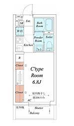 名古屋市営桜通線 車道駅 徒歩4分の賃貸アパート 2階1Kの間取り