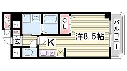フローラ・02[201号室]の間取り