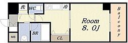 ロワジール クスノキ[4階]の間取り