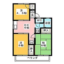 ハイツ伊藤[1階]の間取り