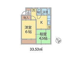 千葉県習志野市谷津の賃貸アパートの間取り
