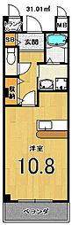 アンジュ西京極[202号室]の間取り