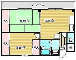 住之江ハイツ[204号室]の間取り