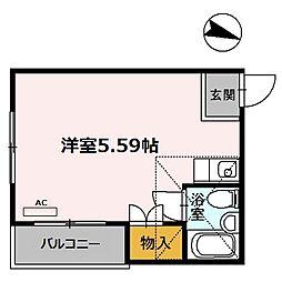 大阪府大阪市平野区平野東1丁目の賃貸マンションの間取り