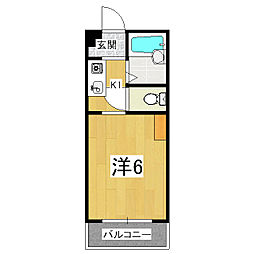 サンシーガル1[2階]の間取り