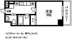 アルペジオ生田[412号室]の間取り