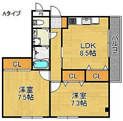 ウィン・ミサキ[2階]の間取り
