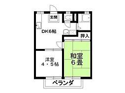 パナハイツ富士[203号室]の間取り