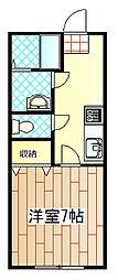 神奈川県伊勢原市桜台2の賃貸アパートの間取り