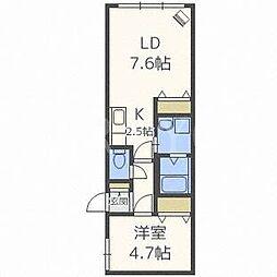 北海道札幌市白石区本通15丁目南の賃貸マンションの間取り