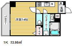 アドバンス三宮ステージア[4階]の間取り