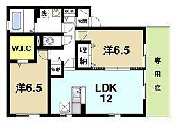 奈良県奈良市千代ヶ丘3丁目の賃貸アパートの間取り