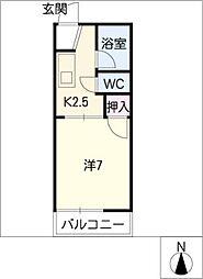 フォーブル早川A棟[2階]の間取り