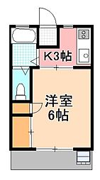 コーポ八木NO,2[2階]の間取り